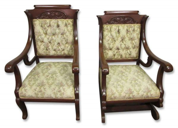 Carved Walnut 19th Century Chairs