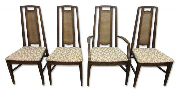 Set of Four Mid Century High Back Chairs