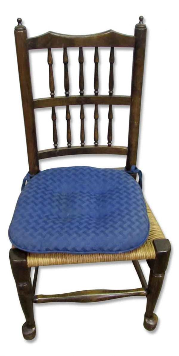 Wooden Rush Seated Chair