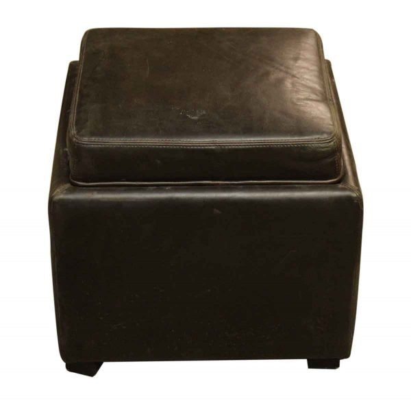 Leather Stool with Removable Top