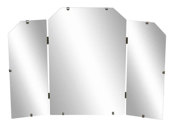 Three Fold Deco Style Mirror