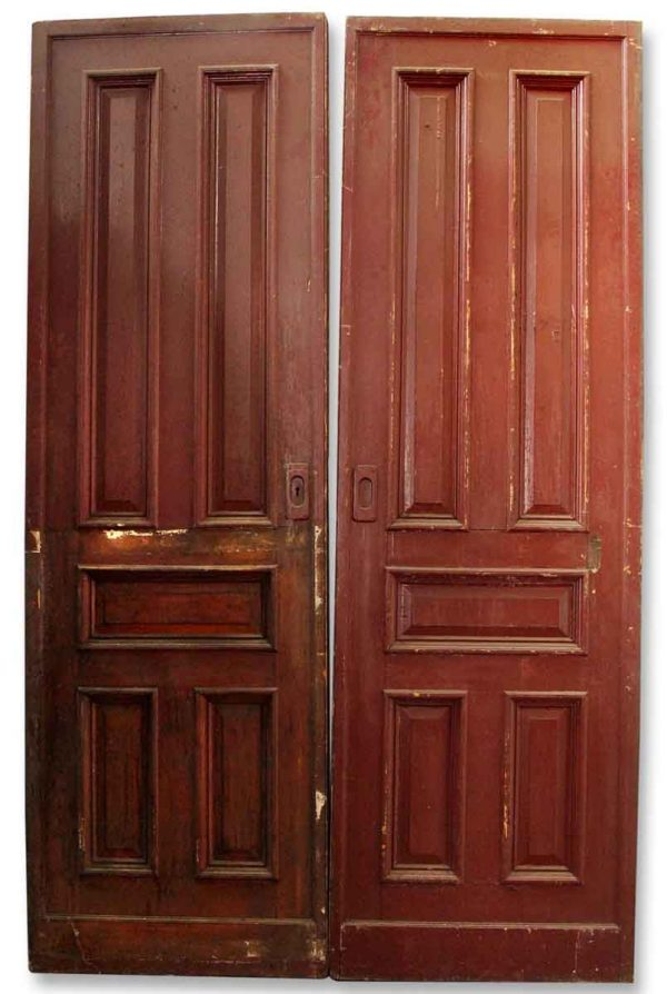 Pair of Wooden Pocket Doors