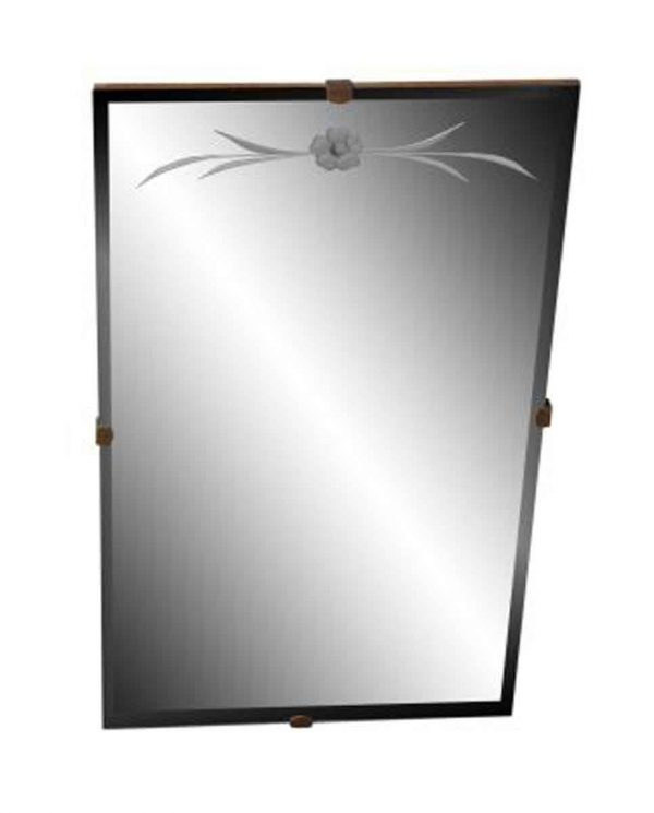 Etched Glass Bathroom Mirror