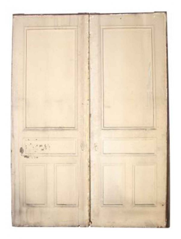 Large Eastlake Pocket Doors with Half Glass Panel