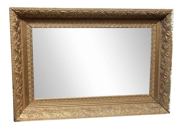 Gold Colored Antique Mirror