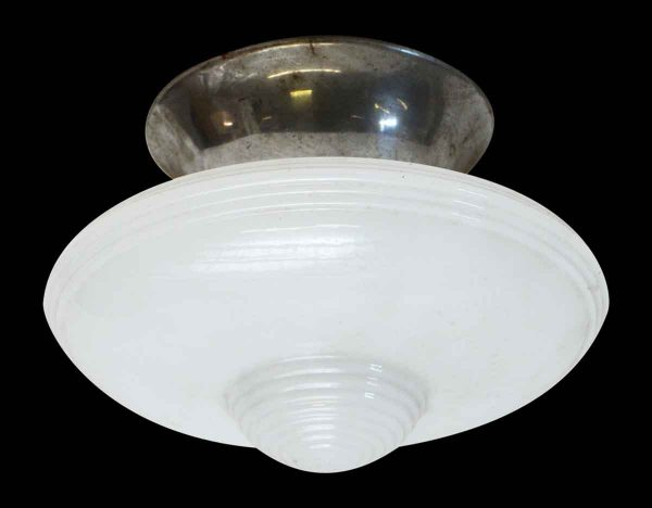 Deco Milk Glass Fixture