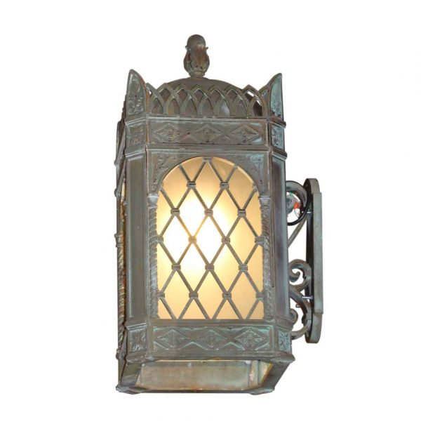 Pair of Art Deco Bronze Exterior Sconces