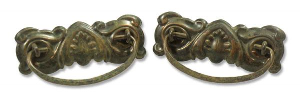 Pair of Victorian Stamped Brass Bail Pulls