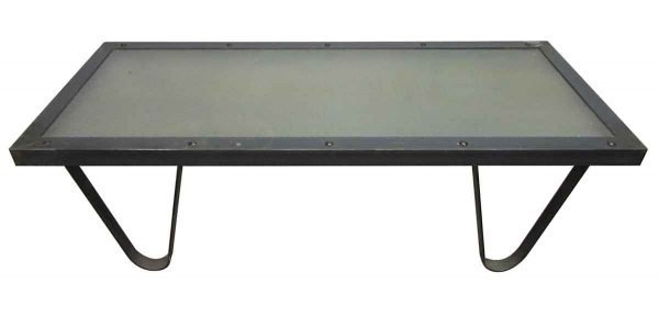 Coffee Table with Chicken Wire Glass Top