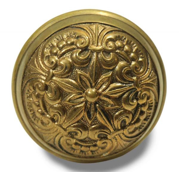 Collector's Quality Floral Ornate Knob