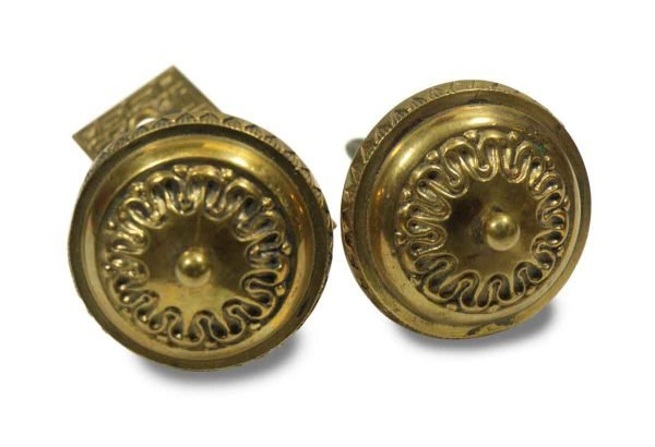 Pretty Knob Set with Small Ornate Plate
