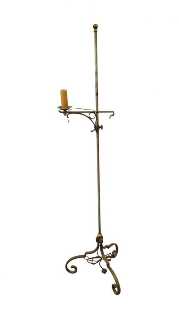 Standing Iron Floor Lamp with Candle Stick