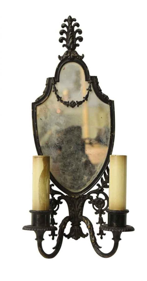 Single Mirrored Two Arm Sconce