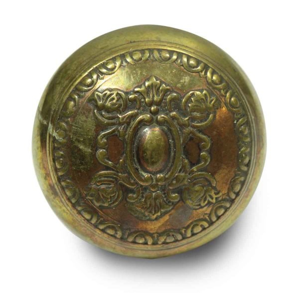 Single Collectors Quality Ornate Brass Knob