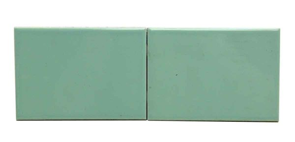 Set of Two Mint Green Ceramic Tiles