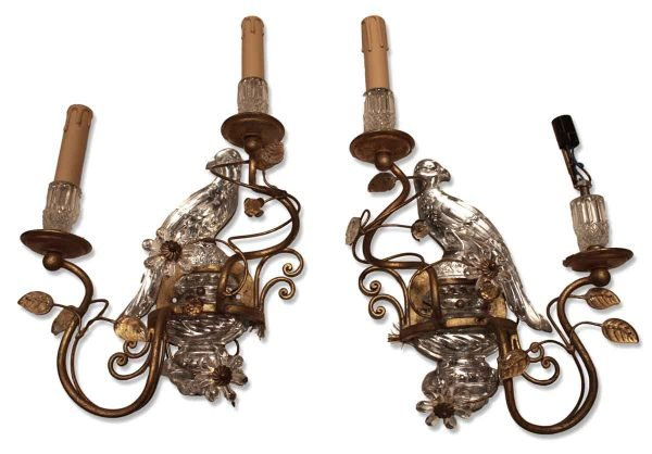 1920s Pair of Gilded Maison Bagues Style Sconces