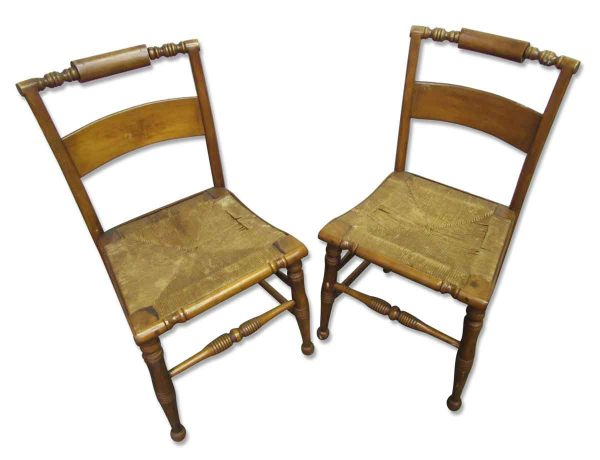 Wicker Seated Chair Set