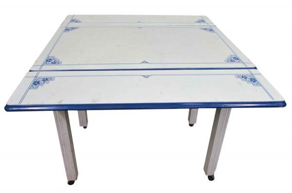 Extendible 1940s Enameled Metal Table