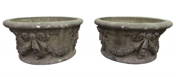 Vintage Cast Cement Urns