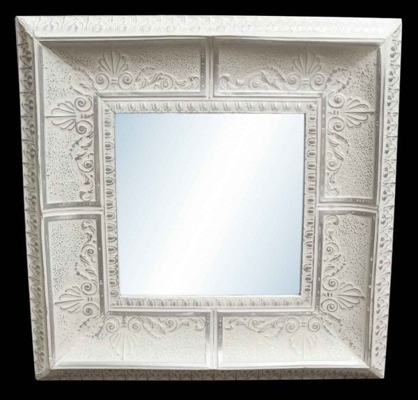 3d Leaf 10 in. Tin Framed Cove Mirror