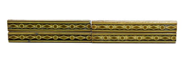 Set of 5 Yellow Decorative Accent Tiles