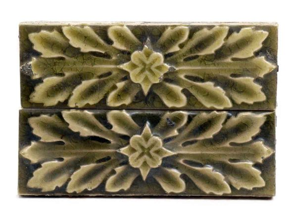 Set of Leafy Green Decorative Tiles