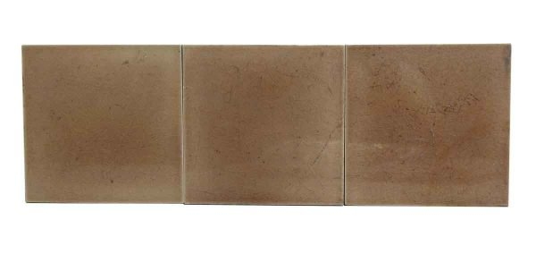 Set of Beige Square Ceramic Tiles