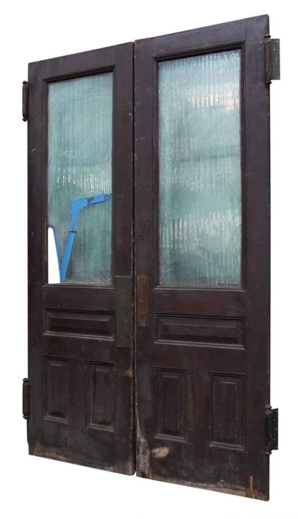 Pair of Doors with Textured Glass