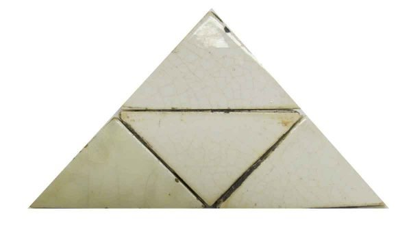 Off White Crackle Triangle Tile Set