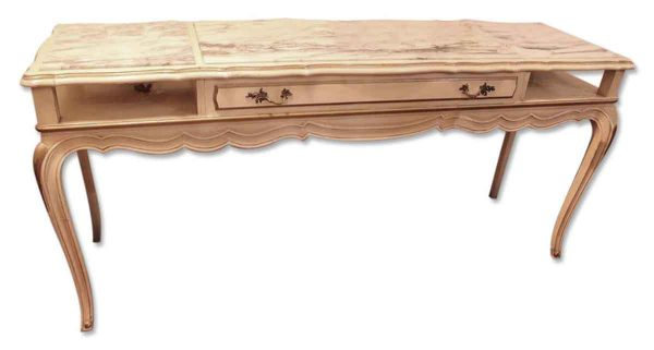 Marble Top White & Gold Console