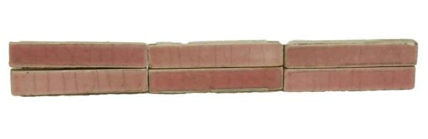 Set of 98 Small Crackled Pink Tiles