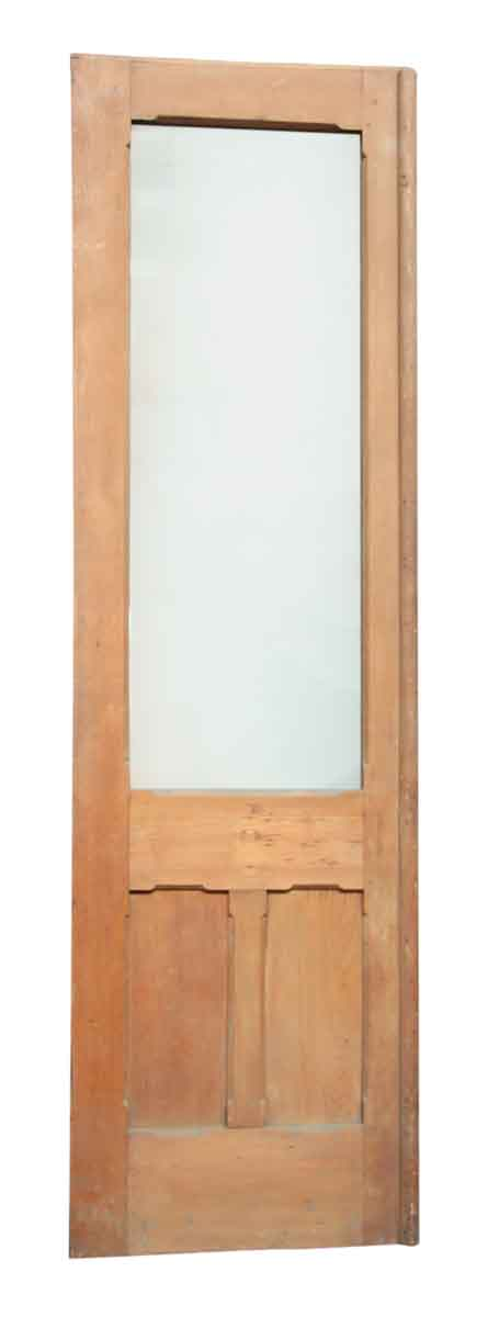 Single Wood Door with Decorative Panels