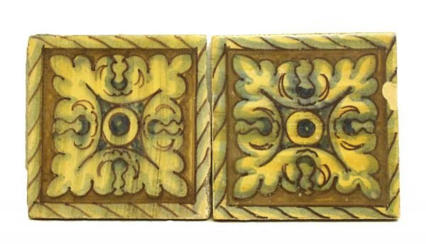 Set of Two Hand Painted Tiles