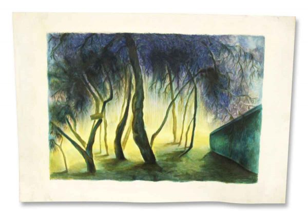 Forest Watercolor Print