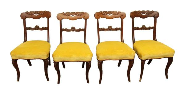 Set of Four Velvet Chairs