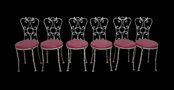Set of White Iron Chairs
