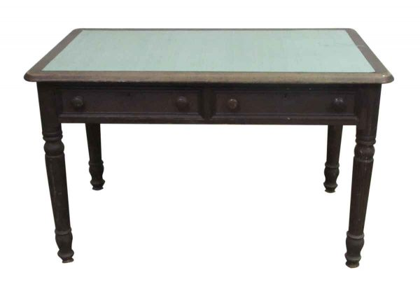 Country Table or Desk with Turned Legs