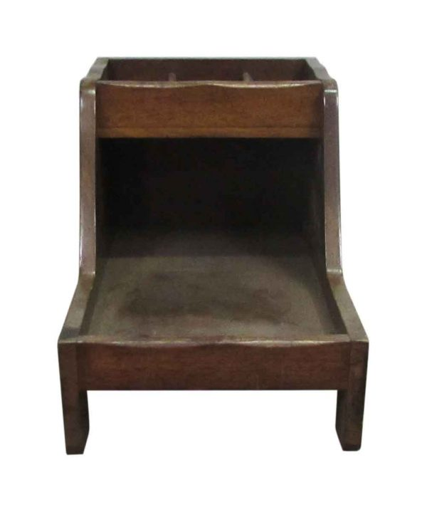Antique Wooden Shoe Shine Stand