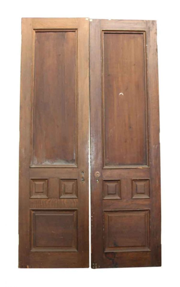 Pair of Solid Four Panel Doors