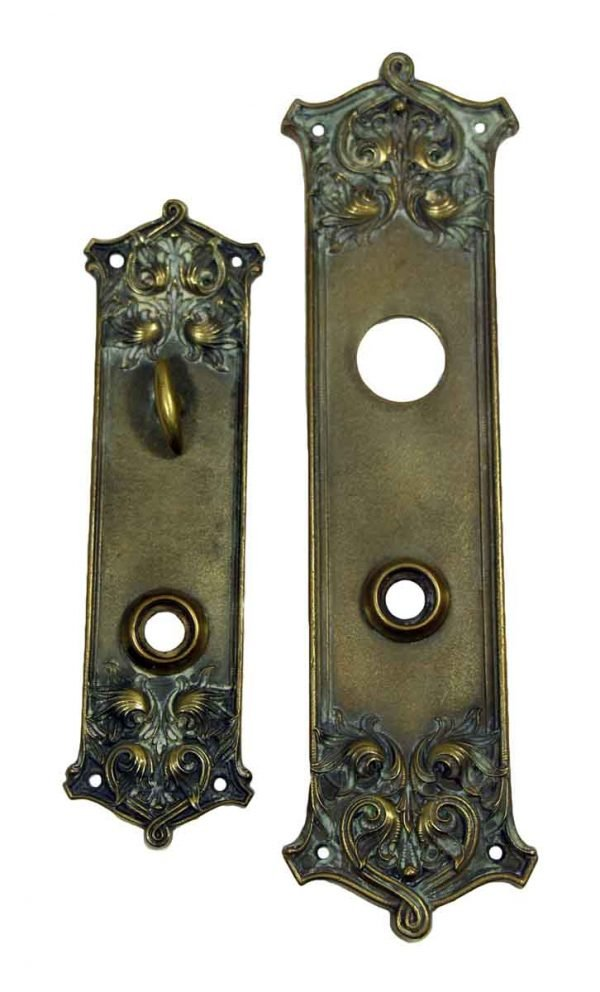 Matching Bronze Entry Plates