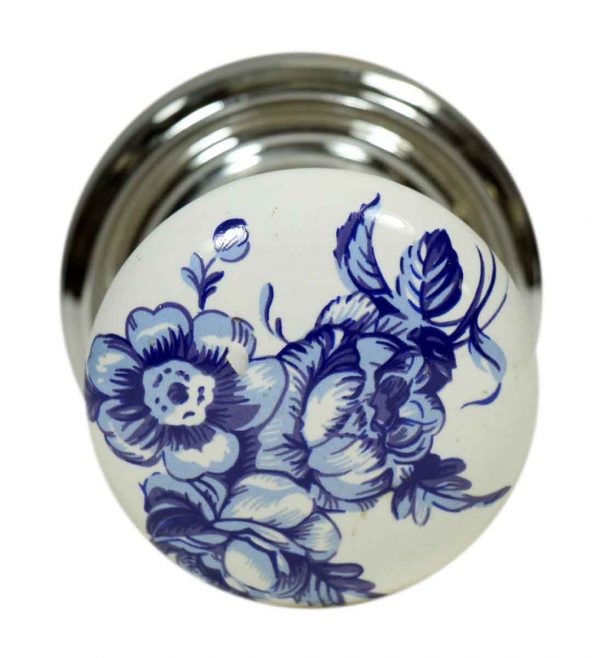 Single Ceramic Blue Floral Gainsborough Knob