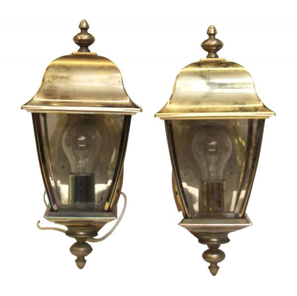 Exterior Hooded Sconces