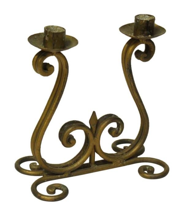 S Shaped Double Candle Holder