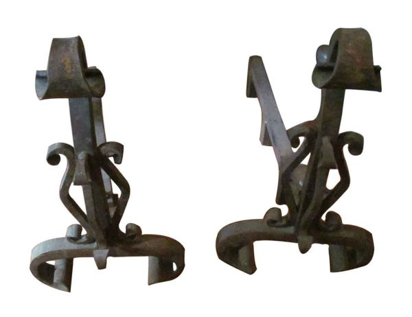 Set of Andirons Bronze Plated
