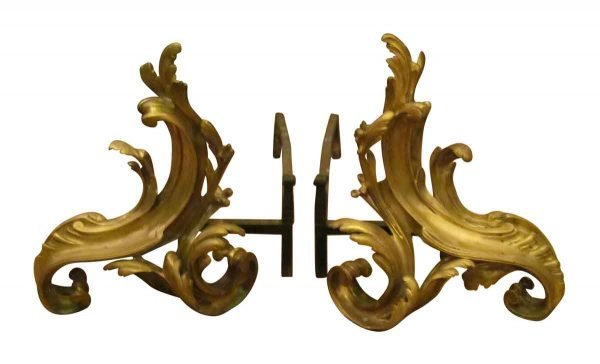 Antique French Bronze Chenet in Louis Xv Style