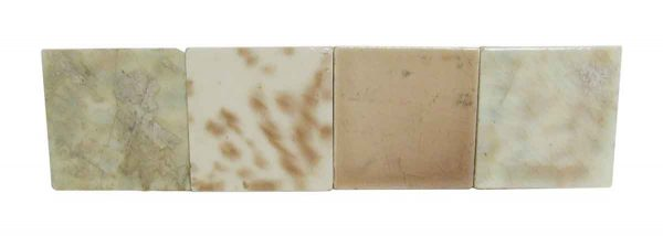 Warm Mixed Colored Square Tile Set