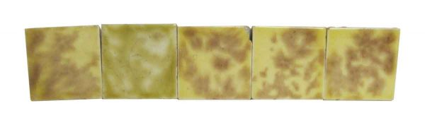 Yellow & Brown Square Tile Set