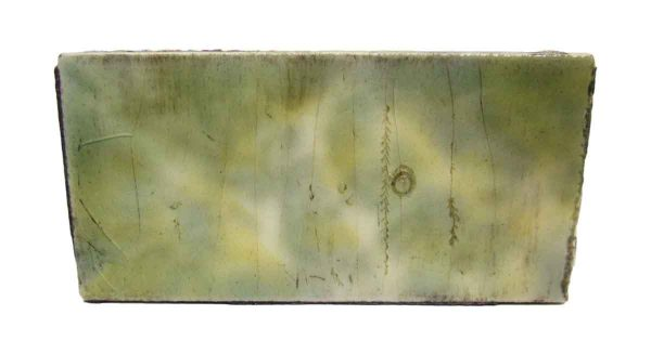 Green Tile with Yellow Mixed Colors