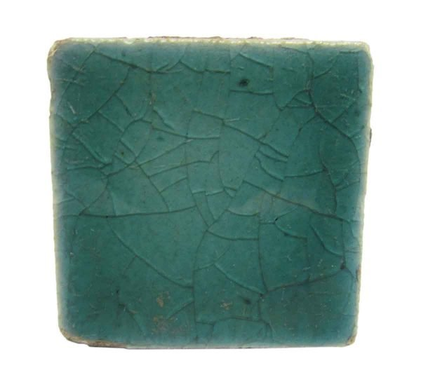 Small Square Crackled Teal Tiles
