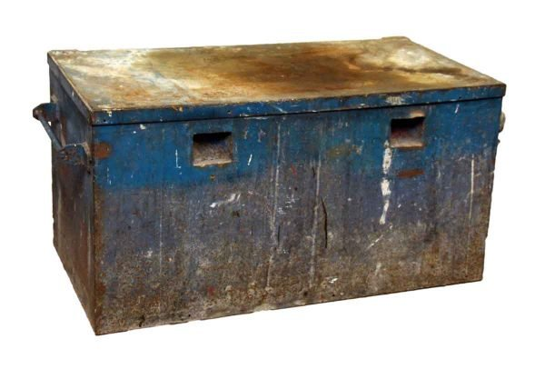 Large Blue Metal Trunk